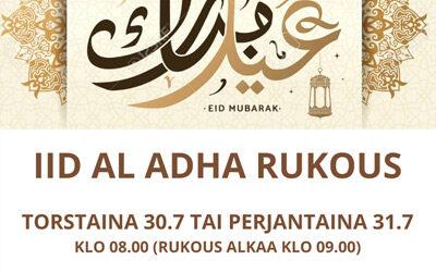 Iid Al Adha -rukous